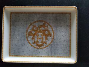 Hermes Mosaique au 24 Gold Sushi Plate #26089P