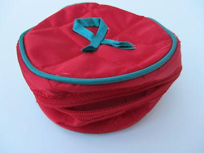 Schmuckschatulle / Schmuckbehälter / Schmucketui aus Nylonstoff / für Kinder