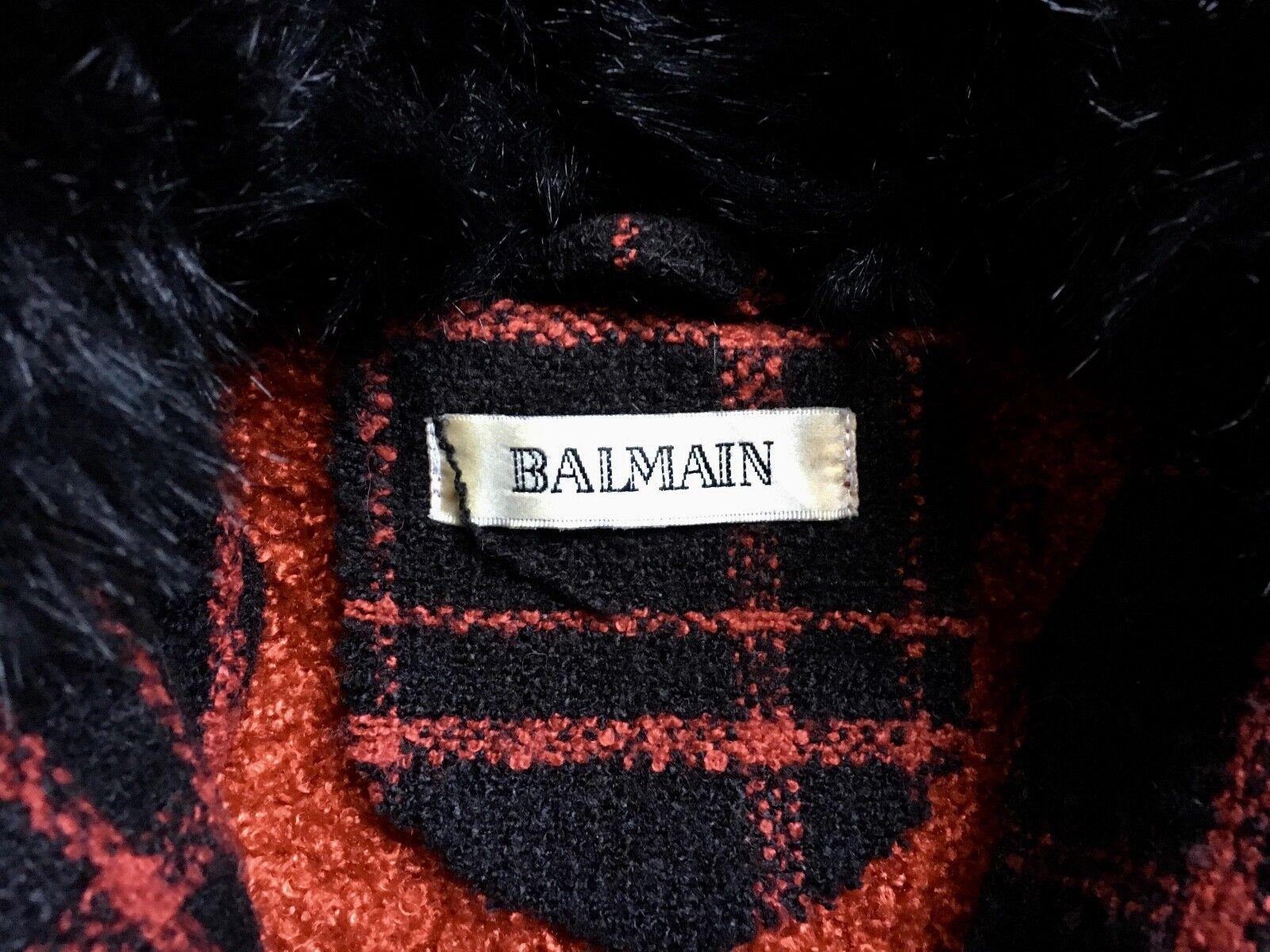 Vintage veste manteau tweed de laine femme
