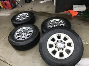 LT275/70R18 Winter Tires With 2012+ GM 2500 Rims For Sale!!