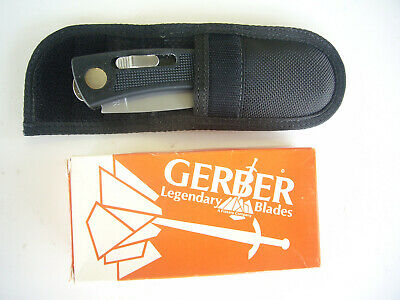 GERBER BOLT ACTION DROP PT HUNTER KNIFE USA 80's ORIGINAL NIB OLD STOCK + SHEATH