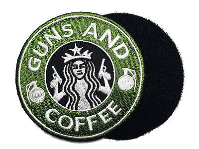 "Tactical Guns and Coffee Morale Military 4"" patch"