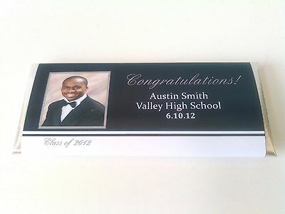 Graduation Candy Bar Wrappers Favors Party Decorations You Choose The Color Grad