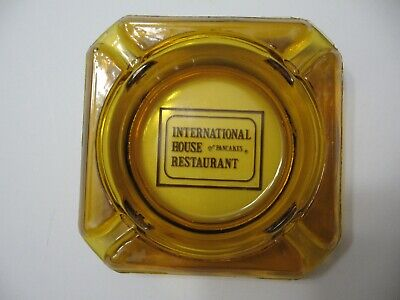 Glass Ashtray Vintage IHOP International House Of Pancakes Amber Colored