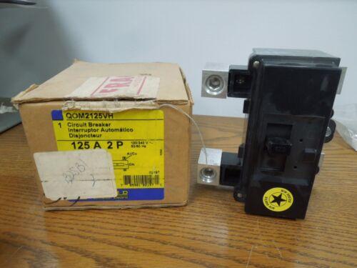 Square D Qom2125vh 125a 2p 240v Breaker New Surplus In Box