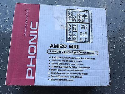 Phonic Am120 Mkii Compact Mixer   New Old Stock  In Box