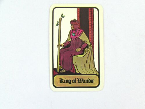 Vintage 1972 Hoi Polloi Tarot *Single Replacement Card* King of Wands