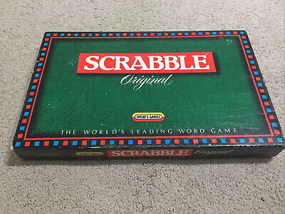 Scrabble Original Board Game Vintage 1988 Complete Mattel Educational Word Game