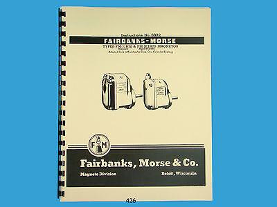 Fairbanks Morse Magneto Instruct Parts Manual For Fm-j1b70 Fm-je1b70 Mags 426