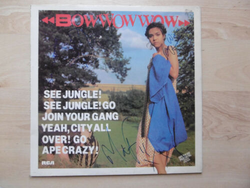 """Bow Bow Wow """"New Wave"""" Autogramme signed LP-Cover Vinyl """"See Jungle,..."""""""
