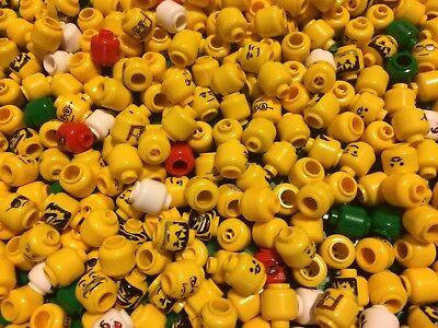 LEGO Minifigure 50 Assorted Head Bulk Lot Ninjago Star Wars Pirates Parts Pieces
