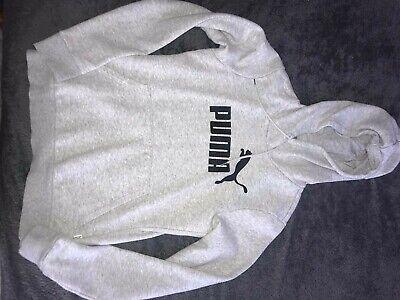Grey women's puma hoodie size 8