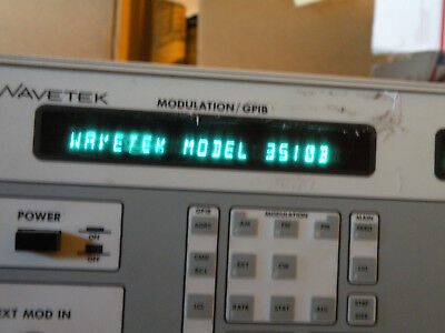 As Is Wavetek 3510b 1-1000 Mhz Signal Generator