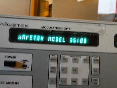 As Is Wavetek 3510b 1-1000 Mhz Signal Generator