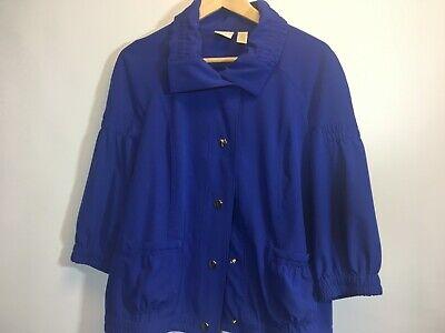 Chicos Zenergy Blue Jacket size 1 Medium lightweight for sale  Shipping to India