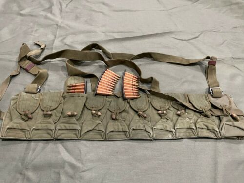 ORIGINAL STAMPED VIETNAM CHINESE SKS TYPE 56 7.62X39 CHEST-RIG AMMO POUCH