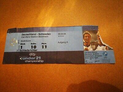 Ticket Deutschland - Sweden 30.05.2004 Euro Under 21
