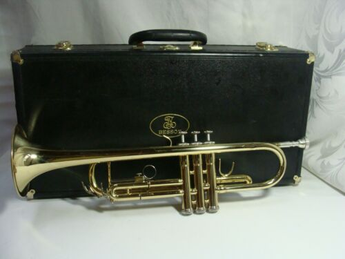 Quality BESSON STUDENT TRUMPET🎺 Refurbished with Hard Case EXTRAS!