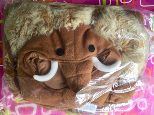 POTTERY BARN KIDS WOOLLY MAMMOTH HALLOWEEN COSTUME BOY ANIMAL + TREAT BAG 4T-6T