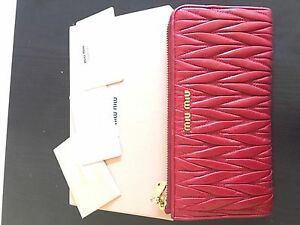 Miumiu Red Long Wallet Capalaba West Brisbane South East Preview