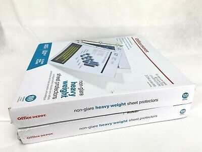 Non-glare Heavyweight Clear Sheet Protectors Lot Of 2 X 100 Each 200 Pcs Total