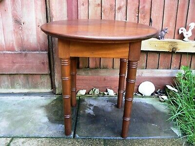 Vintage Wooden Round Tea Coffee Occasional Table