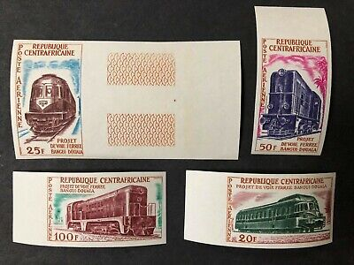 Central Africa #C13-16 Complete Imperf Set 1963 MNH
