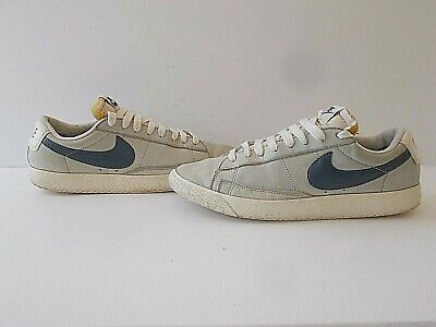 Mens Stone Coloured Leather Nike Blazer Lo Trainers Size UK 7