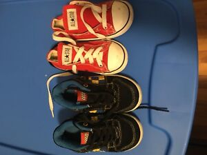 Size 8 toddler sneakers LEGO and converse