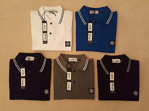 Stone-Island-Mens-Regular-Fit-Short-Sleeve-Polo-In-Black-Blue-Grey-Navy-White