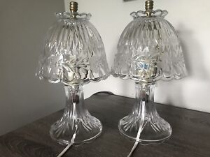 2 Princess House Crystal Lamps bedside lamps