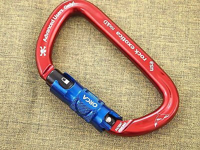 Rock Exotica RockD Carabiner With ORCA Lock for CLIMBING RIGGING RESCUE