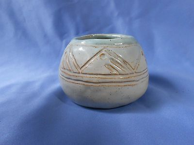 "Vintage University Of North Dakota School Of Mines 2 1/2"" 1941 Artist Signed Pot"
