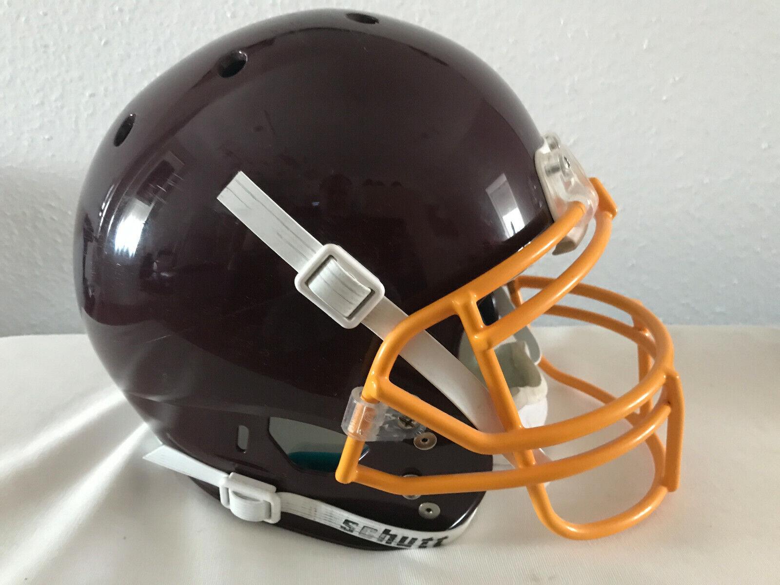 Schutt Air XP American Football Helm, Medium mit gelber Facemask und Kinnschutz