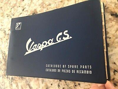 RARE 1955 -1962 ACMA PIAGGIO VESPA GS DEALER CATALOG OF SPARE PARTS MANUAL BOOK