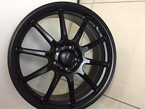 "17"" JAPANESE MALIA WHEELS NEW WITH TYRES $1000 HONDA MAZDA Fawkner Moreland Area Preview"