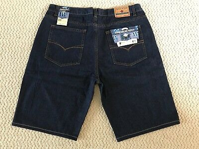 NWT Men's Nevada Dark Blue Premium Five Pocket Jean Denim Shorts BIG SIZES 42-50 Denim Five Pocket Shorts