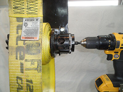 Truck Strap Winch Winder - Drill Driven Winding Tool for Flat Bed Trailers