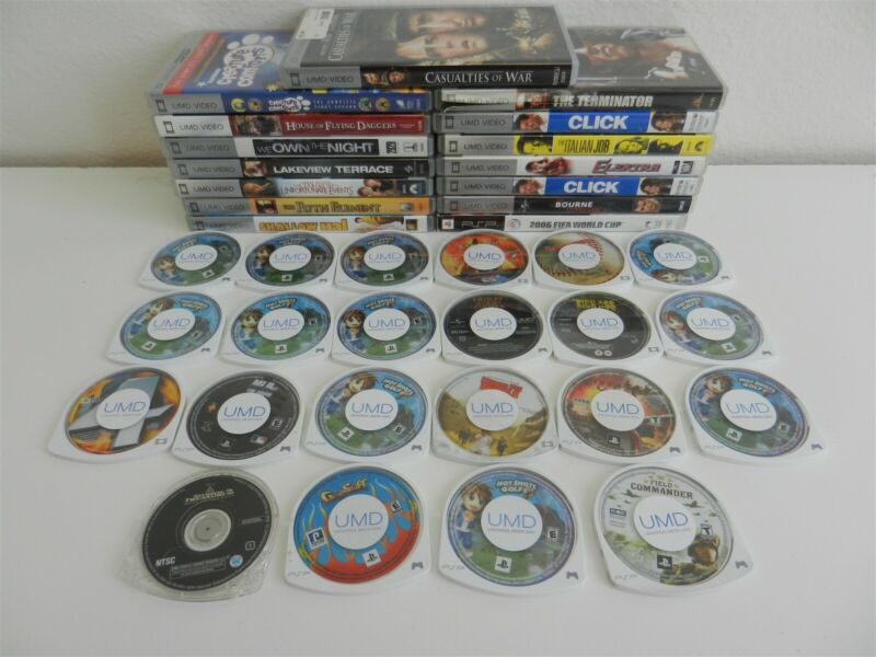 Lot of 36 Sony PSP Games and UMD Movies - Gripshift, Ironman, Italian Job