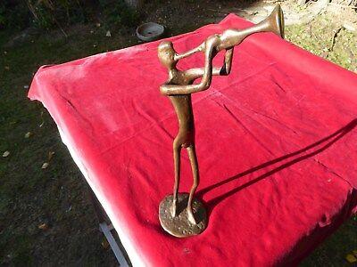 Bronze Statue Trumpet Player