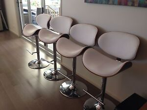 Wooden curved padded bar stools Fairy Meadow Wollongong Area Preview