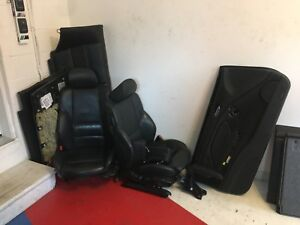 BMW E46 REAL LEATHER BLACK INTERIOR (Parts)