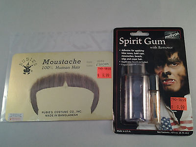Lt Brown Zapata Moustache w/ ADHESIVE Combo 70's 80's 100% Human Hair  Style2016 - 70s Mens Hairstyles