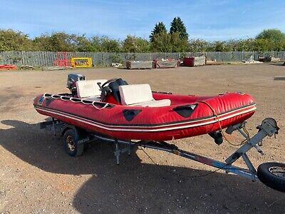 Zodiac Futura semi inflatable RIB 30hp Suzuki outboard
