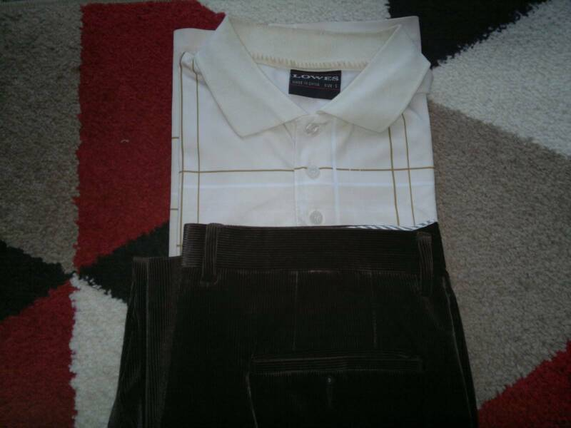 BOLAND SIDON Design in Italy Men's Pants size 34 Light Brown