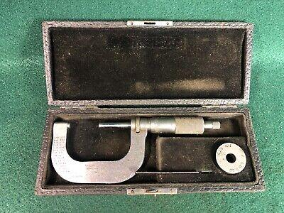 Vintage Starrett No. 213 1-2in. Outside Micrometer W Case