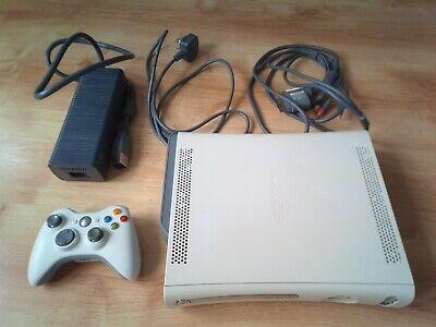 Xbox 360 Console Boxed Pad Leads White Microsoft
