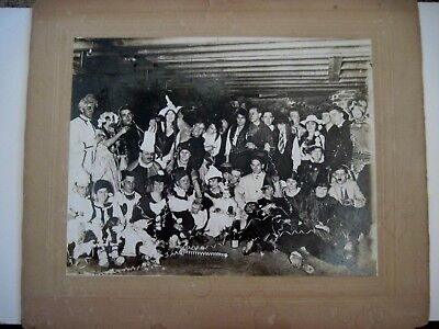 Large 1940-50's B&W Photograph of Halloween Party w/ Costumes * ](Halloween Party Bw)