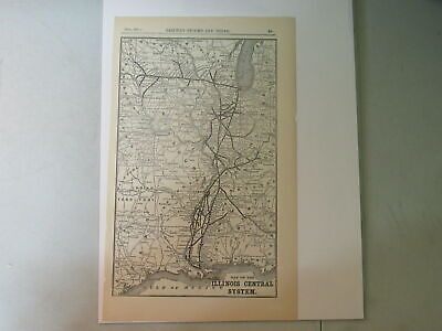 Original map of the Illinois Central System  ~ 1911