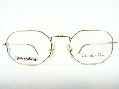 CHRISTIAN DIOR 2885 Herrenbrille 8-eckig goldfarben Designer-Fassungen Gr. M